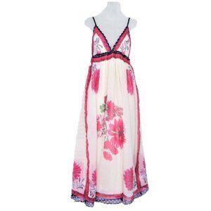 Ganesh floral polyester midi summer dress M